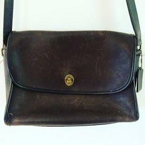 Vintage brown coach bag